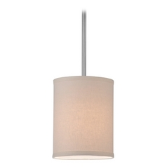 Design Classics Lighting Drum Mini-Pendant Light with Cream Linen Shade DCL 6542-09 SH7484