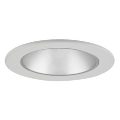 Satin Reflector GU10 LED Deep Trim for 4-Inch Line and Low Voltage Recessed Cans