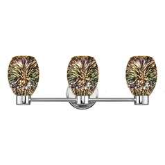 Aon Fuse Chrome Bathroom Light and 3-D Glass with Burst Pattern