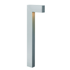 Modern LED Path Light with Etched in Titanium Finish