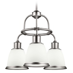 Feiss Hobson 3-Light Chandelier in Satin Nickel