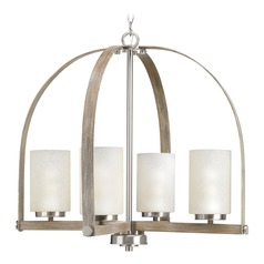 Modern Farmhouse Pendant Light Brushed Nickel Aspen Creek by Progress Lighting