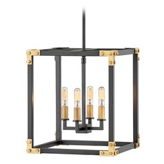 Hinkley Lighting Louis Satin Black Mini-Chandelier