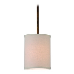 Design Classics Lighting Drum Mini-Pendant Light with Cream Shade in Bronze Finish DCL 6542-604 SH7484