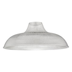 Prismatic Glass Shade 15.38-Inch Wide 1.63-Inch Fitter