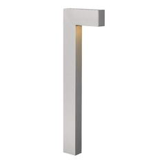 Modern Path Light with White Glass in Titanium Finish