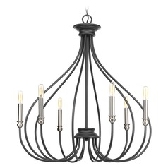 Progress Lighting Whisp Graphite with Brushed Nickel Accents Chandelier