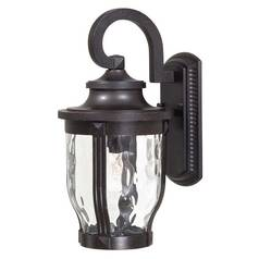 Outdoor Wall Light with Clear Glass in Corona Bronze Finish