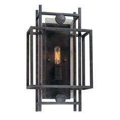 Sconce Wall Light in French Iron Finish
