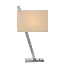 Diagonal Table Lamp with Square Shade