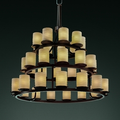 Justice Design Limoges 3-Tier 36-Light Chandelier in Dark Bronze