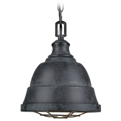 Golden Lighting Bartlett Black Patina Mini-Pendant Light