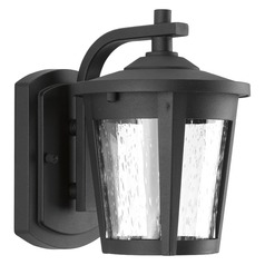Seeded Glass LED Outdoor Wall Light Black Progress Lighting