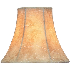 Faux Leather Bell Lamp Shade with Clip-On Assembly