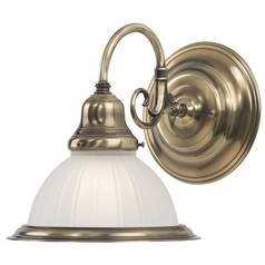 Dolan Designs Solid Brass Sconce in Antique Brass Finish 181-18