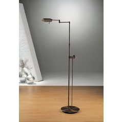 Holtkoetter Modern Floor Lamp in Hand-Brushed Old Bronze Finish