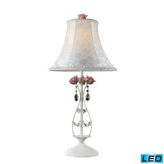 Dimond Lighting Antique White LED Table Lamp with Bell Shade