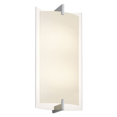Sonneman Lighting Double Polished Chrome LED Sconce