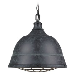 Golden Lighting Bartlett Black Patina Pendant Light