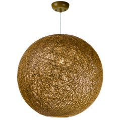 Maxim Lighting International Bali Pendant Light with Globe Shade