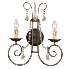 Crystorama Lighting Soho Dark Rust Sconce