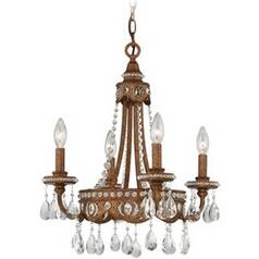 Mini-Chandelier in Bolivian Bronze Finish