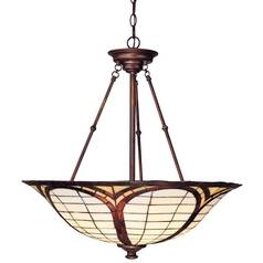 Design Classics Lighting Tiffany Pendant Light 5980-20