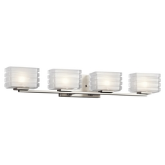 Kichler Lighting Bazely Brushed Nickel Bathroom Light