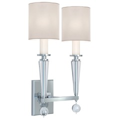 Crystorama Lighting Paxton Polished Nickel Sconce