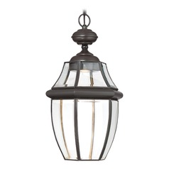 Quoizel Lighting Newbury Clear LED Medici Bronze LED Outdoor Hanging Light