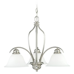 Darby Satin Nickel Chandelier by Vaxcel Lighting