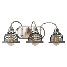 Farmhouse Bathroom Light Brushed Nickel Tilley by Progress Lighting