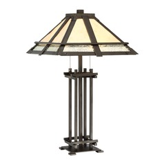 Lite Source Hyden Dark Bronze Table Lamp with Square Shade
