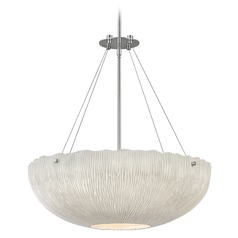 Hinkley Lighting Coral Polished Nickel Pendant Light with Bowl / Dome Shade