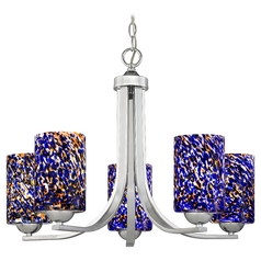 Modern Chandelier in Polished Chrome Finish