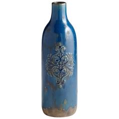 Cyan Design Garden Grove Blue Glaze Vase