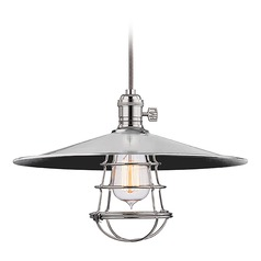 Hudson Valley Lighting Heirloom Polished Nickel Pendant Light with Coolie Shade