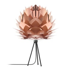 UMAGE Black Table Lamp with Abstract Shade