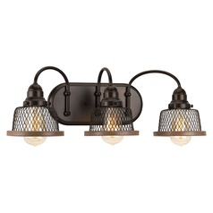 Farmhouse Bathroom Light Bronze Tilley by Progress Lighting