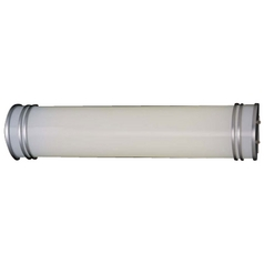 Energy Efficient Silver Bathroom Light - Vertical or Horizontal Mounting