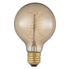 Design Classics Lighting Nostalgic Edison Carbon Filament G25 Light Bulb - 40-Watts 40G25 SPIRAL FILAMENT