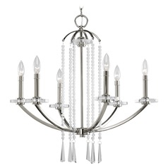 Progress Crystal Chandelier in Polished Nickel Finish