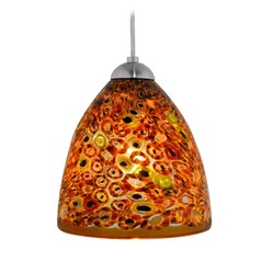 Oggetti Elan Satin Nickel Mini-Pendant Light with Bowl / Dome Shade