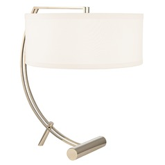 Deyo 2 Light Table Lamp Drum Shade - Polished Nickel