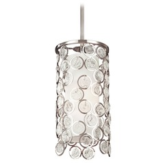 Feiss Lighting Lexi Polished Nickel Mini-Pendant Light with Cylindrical Shade