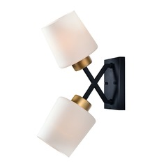 Kenroy Home Draper Gold and Matte Black Sconce