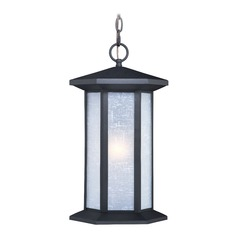 Halsted Textured Black Outdoor Hanging Light by Vaxcel Lighting
