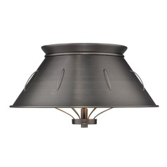Whitaker Flush Mount in Aged Steel