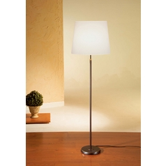 Holtkoetter Modern Floor Lamp with White Shade in Hand-Brushed Old Bronze Finish