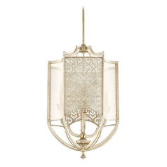 Quorum Lighting Bastille Aged Silver Leaf Pendant Light